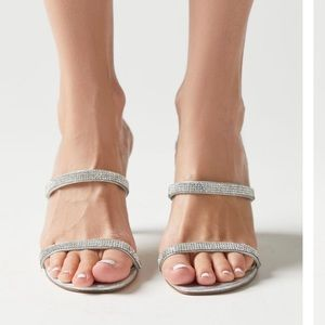 Urban Outfitters glitter strappy heels